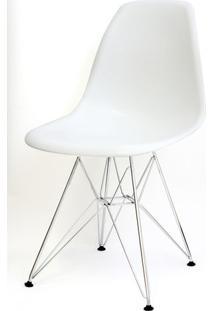 Cadeira Eames Polipropileno Branco Base Cromada - 9521 Sun House