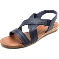 dcb69cc40 Sandália Azul Marinho Usaflex feminina   Shoes4you