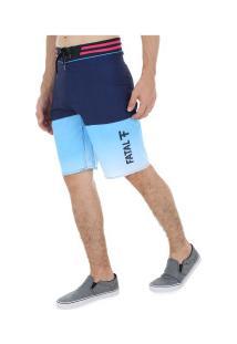 Bermuda Fatal Boardshort Tecnológico 9886 - Masculina - Azul Esc/Azul Cla