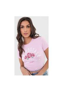 Camiseta Aeropostale Floral Rosa