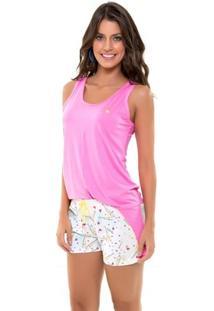 Pijama Recco Regata Recco De Viscose Stretch E Microfibra Amni - Feminino