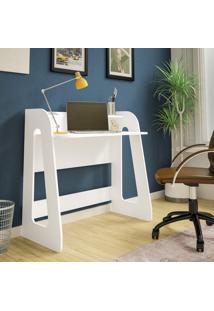 Mesa Escrivaninha Para Notebook Artely Cyber 2 Prateleiras Branca