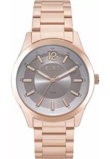 Relógio Feminino Euro Analógico Eu2036Ykx/4C - Unissex-Rose Gold
