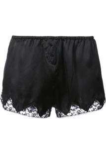 Morgan Lane Short De Pijama Com Renda - Preto