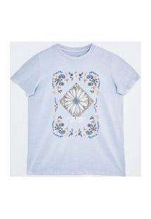 Camiseta Estampa Arabesco Floral