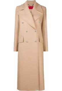 Hugo Trench Coat Com Abotoamento Duplo - Neutro