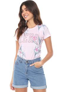 Camiseta Aeropostale Floral Rosa/Verde
