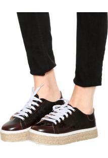 Tênis Flatform Dafiti Shoes Corda Marrom