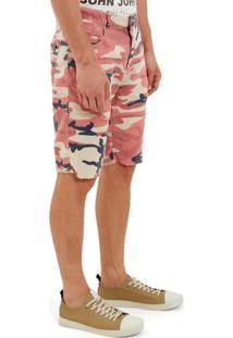 Bermuda John John Clássica Colonia Sarja Camuflado Estampado Masculina (Estampado, 38)