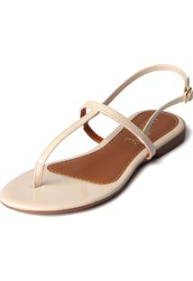 Rasteira Trivalle Shoes Marfim