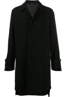 Comme Des Garçons Homme Plus Button-Through Mid-Length Coat - Preto