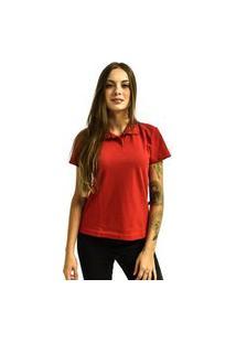 Camiseta Rich Young Pólo Básica Lisa Manga Curta Vermelha