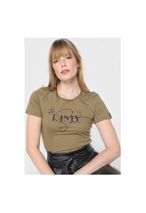 Camiseta Dimy Logo Verde