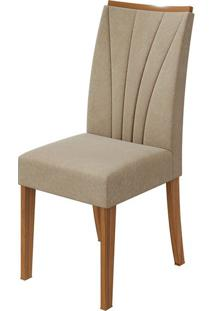 Cadeira Apogeu Veludo Naturale Creme Rovere Naturale
