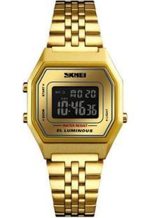 Relógio Skmei Digital 1345 Feminino - Feminino-Dourado