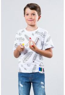 Camiseta Infantil Pena Rqb Reserva Mini Masculina - Masculino-Branco