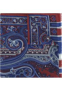 Etro Echarpe Estampada - Azul