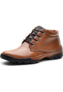 Bota Cano Curto Over Boots Urbana Couro Soft Whisky