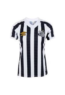 Camisa Umbro Santos Ii 21/22 Branco/Preto