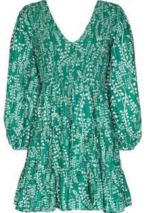 Rixo Vestido Sasha Com Bordado Inglês - Verde