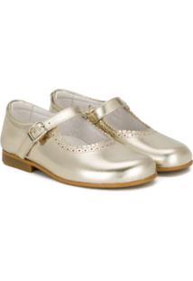Andanines Shoes Sapatilha De Couro Com Detalhe Ondulado - Metálico