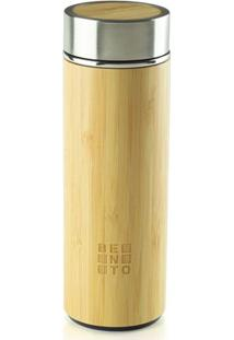 Garrafa Térmica Bento Chai Vidro E Bamboo Bento Store