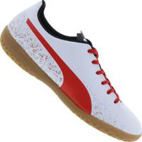 Centauro. Chuteira Futsal Puma Truora In - Adulto - Branco Vermelho 37c25eb4248d8