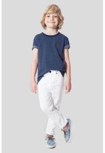 Calça Jeans Mini Pf Juquei Reserva Mini - Masculino-Branco