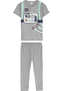 Pijama Cinza Space Man Menino