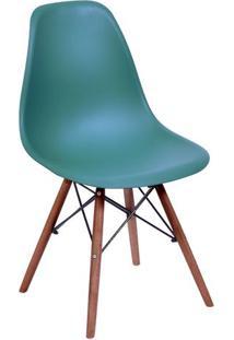 Cadeira Eames Dkr- Azul Petróleo & Madeira Escura- 8Or Design