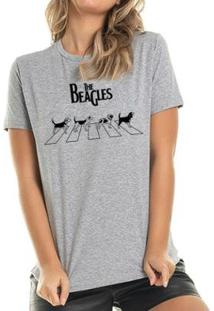 Camiseta The Beagles Buddies Feminina - Feminino-Mescla