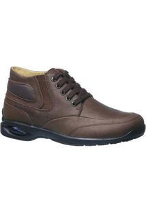 Bota Em Couro Graxo Doctor Shoes Masculino - Masculino-Marrom