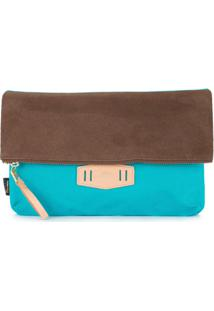 As2Ov Clutch Com Contraste - Azul