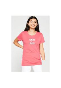 T-Shirt Tommy Jeans Square Rosa Tam. P