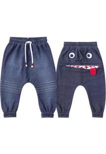 Calça Bebê Luc.Boo Saruel Denim Rostinho Masculina - Masculino-Jeans