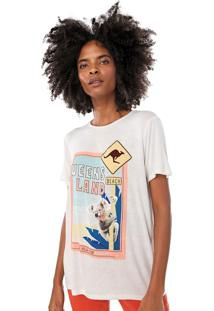 Camiseta Lez A Lez Estampada Off-White