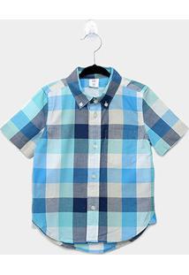 Camisa Xadrez Infantil Gap Malha Baby - Masculino