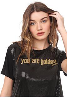 Camiseta Carmim Golden Preta