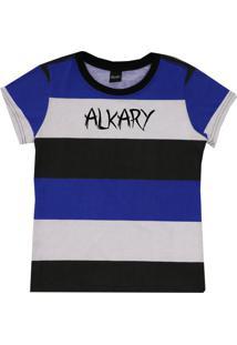 Camiseta Baby Look Degrade Azul