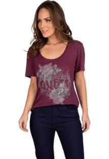 Camiseta Guess Flores Feminina - Feminino