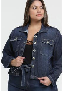 Jaqueta Feminina Jeans Plus Size