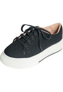 Tenis Hope Shoes Slipper Plataforma Preto