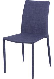 Cadeira Glam Em Linho - Jeans Azul