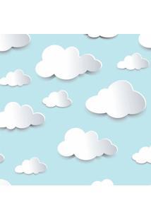 Papel De Parede De Nuvens - Azul Claro & Branco - 30Jmi Decor
