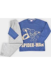 Pijama Infantil Evanilda Longo Básico Spider Man - Masculino