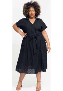 Vestido Midi Almaria Plus Size Pianeta C/ Faixa Pr