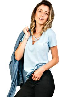 Camiseta Shop55 Strappy Honey Baby Azul Bebê