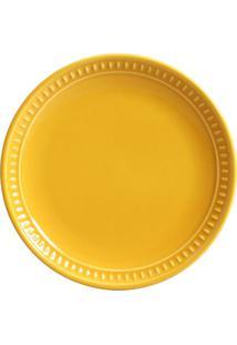 Prato Sobremesa Sevilha Cerâmica 6 Peças Mostarda Porto Brasil