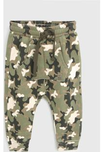 Calça Tip Top Infantil Militar Verde