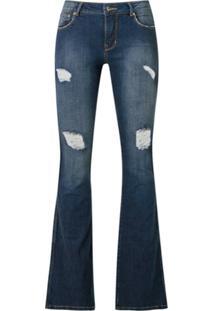 Amapô Calça Jeans New Boot Cut - Azul
